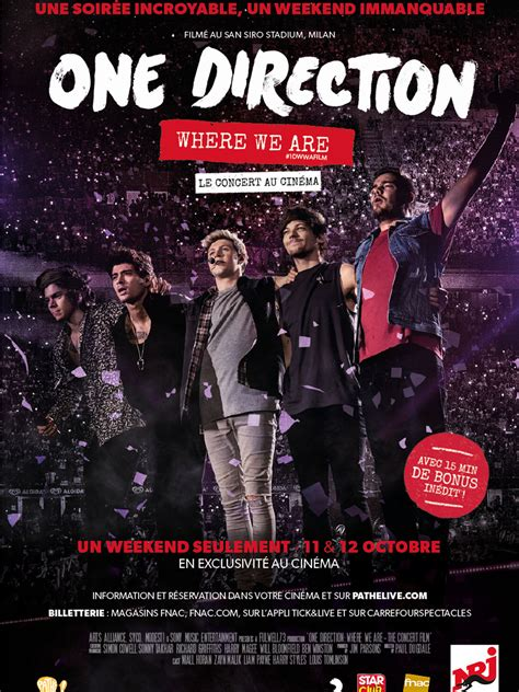 film dokumenter one direction affiche du film one direction where we are the concert