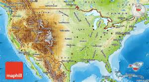 united states physical geography map freecomplete
