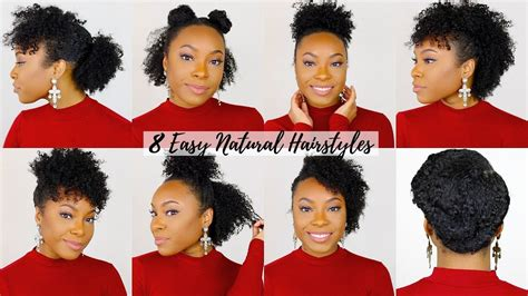 quick easy hairstyles  shortmedium natural hair
