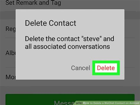 delete contacts android how to delete a wechat contact on android 6 steps with pictures
