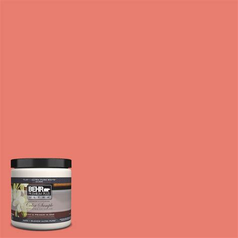 behr premium plus ultra 8 oz home decorators collection desert coral interior exterior paint