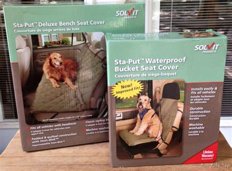 solvit deluxe bench seat cover solvit pet seat covers because dogs love car rides miss