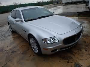 Wrecked Maserati For Sale Salvage 2008 Maserati Quattropor For Sale