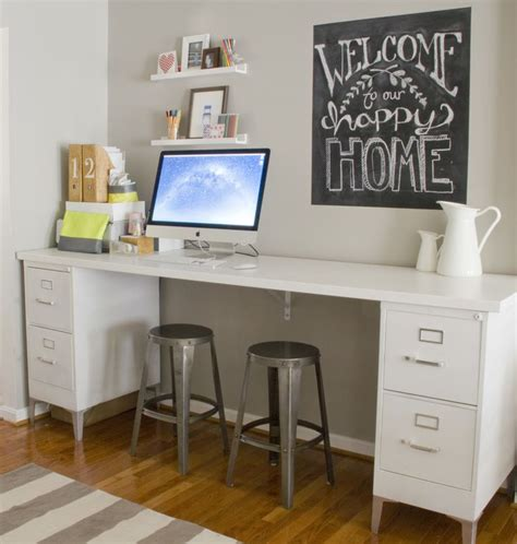 Diy Desk Mv House Pinterest Diy Desk With File Cabinets