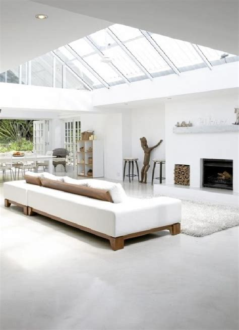 white home interior design minimalist white house with modern interior design in