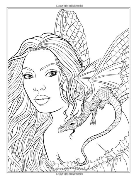 fairy companions coloring book 0994355440 fairy companions coloring book fairy romance dragons and fairy pets fantasy art coloring by
