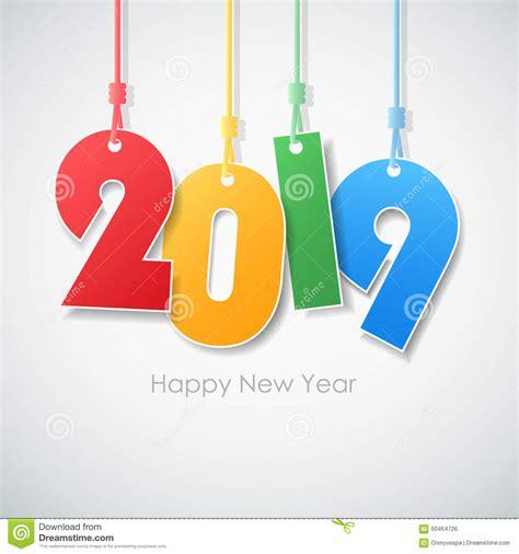 new year 2019 element feliz a 241 o nuevo simple 2019 de la tarjeta de felicitaci 243 n