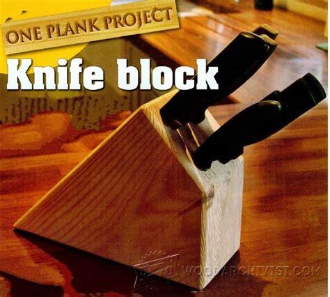 knife block plans woodarchivist