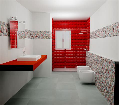 Pop Bathroom Tiles Andy Warhol By Dune Pop Bathroom Modern Bathroom