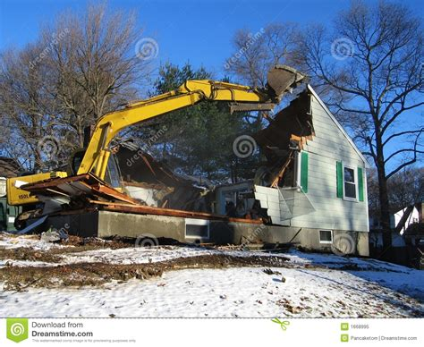 house videos house demolition royalty free stock photo image 1668995