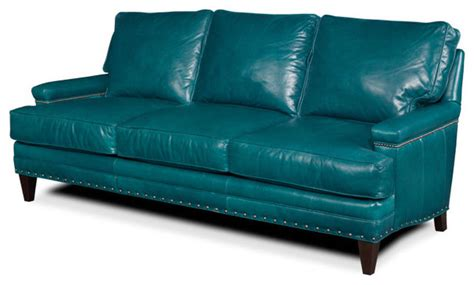 Turquoise Leather Sofa Turquoise Leather Sofa Sofas By Tufted Home
