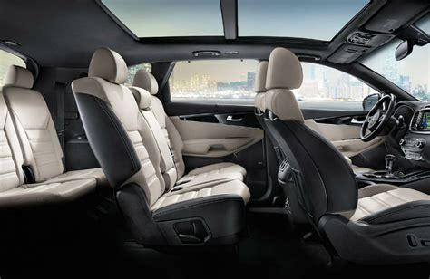 kia sorento seating capacity  maximum cargo area