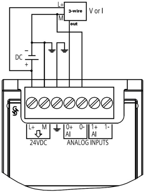 Plc Siemens S7 1200 Cpu1217c how do you connect a sensor to the analog signal modules