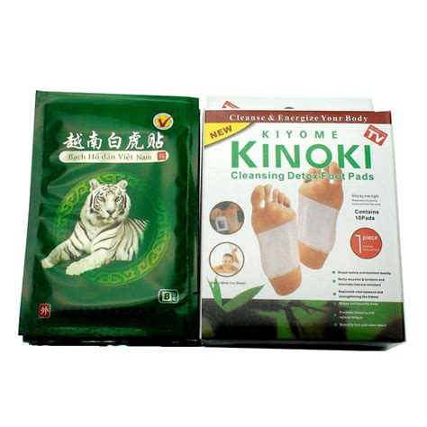 Kinoki White Detox Foot Patch 40pcs white tiger balm athritis relief patch 10pcs