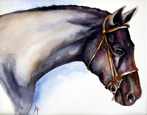 Horse Head 5 Painting By Leyla Munteanu