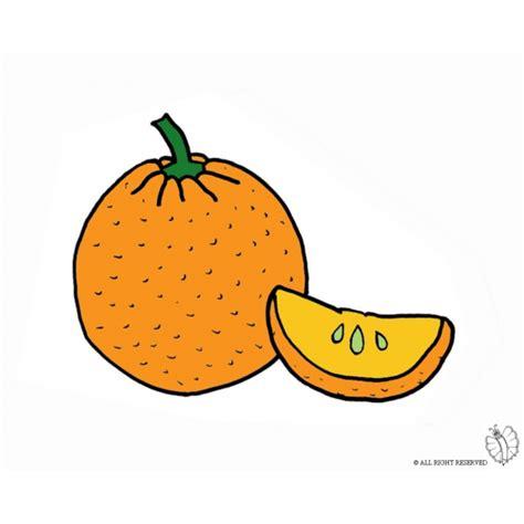 colori per bambini disegno di arancia a colori per bambini