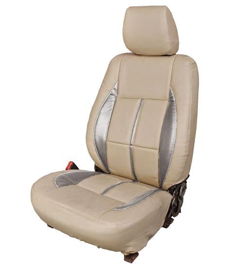 brio car seat elaxa leatherier car seat cover for honda brio beige set
