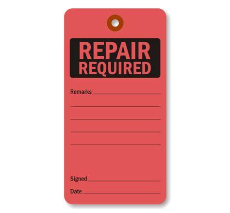 printable repair tags fluorescent cardstock tag repair required tag sku 5702