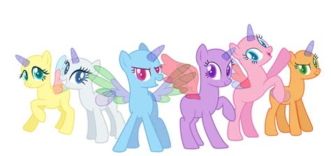 my little pony mane 6 base mlp base mane six by meimisuki on deviantart