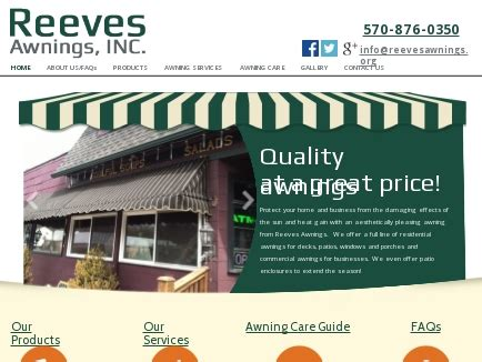reeves awnings reeves awnings sign lettering awnings mayfield pa
