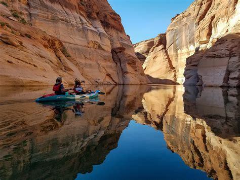 morning antelope canyon kayak lake powell adventure