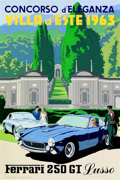 vintage ferrari art vintage ferrari poster google search car posters and