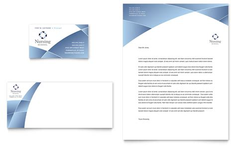 nursing school hospital business card letterhead