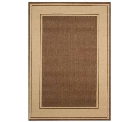 Veranda Living Indoor Outdoor Rug Veranda Living 5x7 Reversible Border Design Indoor Outdoor Rug M42830 Qvc