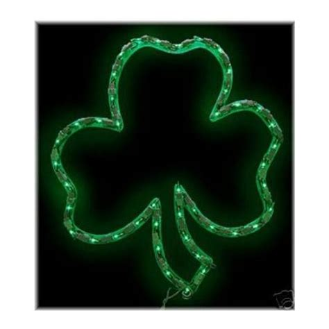 lighted shamrock st s day outdoor decorations