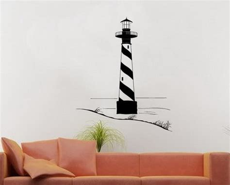 lighthouse wall stickers wall decal lighthouse with sand dunes vinyl wall decal