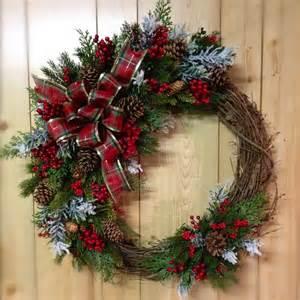 Christmas Wreath Rustic Christmas Wreath Christmas Pinterest