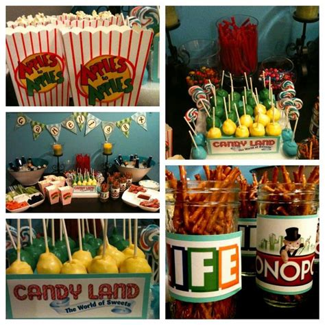 themes for games for a party game night party food ideas alan s 50th birthday party