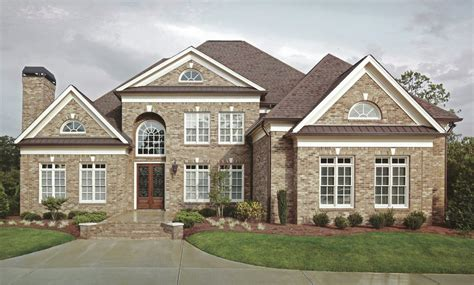 luxury colonial house plans a cut above average house plans this stately home seems