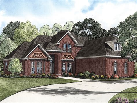 brick home designs eldred luxury brick home plan 055s 0067 house plans and more
