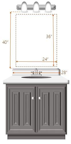 center bathroom light fixture measuring frame design