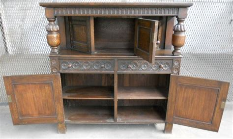 Antique Mahogany Dining Room Furniture Antique Jacobean Style Heavily Carved Oak Court Cupboard