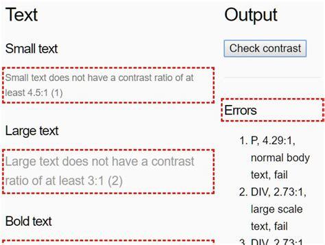 color contrast checker color contrast checker with javascript color contrast js