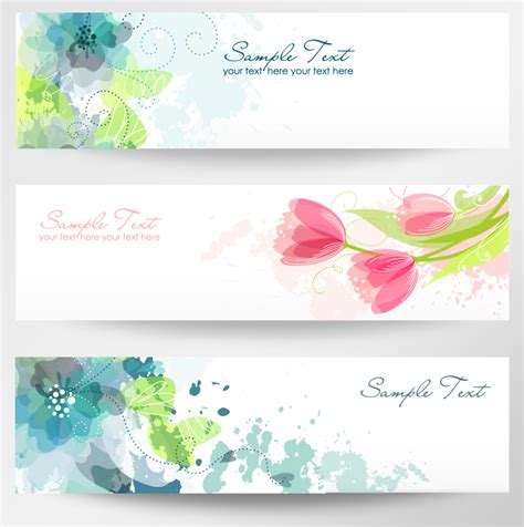 design banner elegant floral banner vector free download images