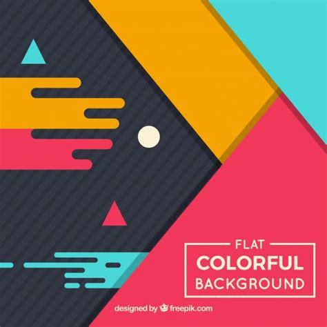 flat design wallpaper vector flat design geometric colorful background vector free