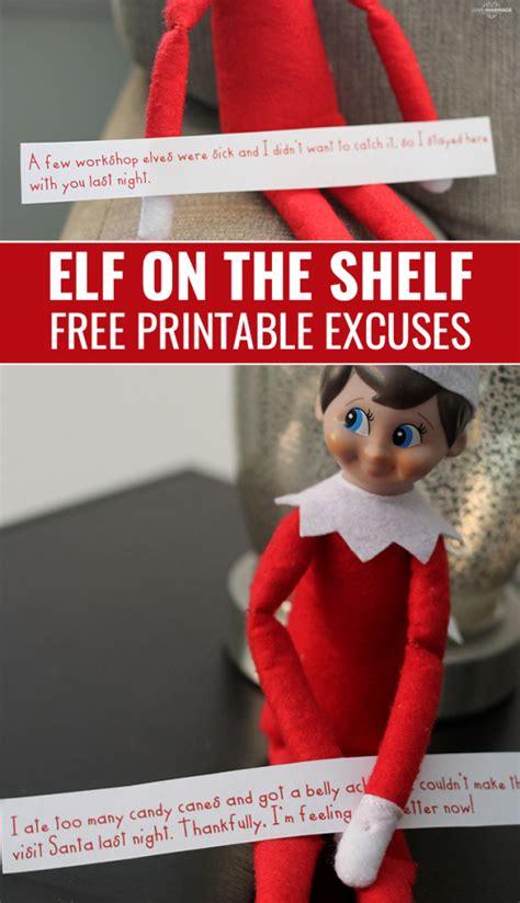 printable elf on the shelf excuses printable elf on the shelf excuses love and marriage
