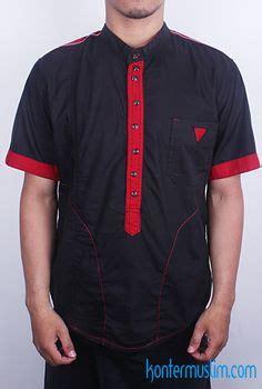 Kemeja Batik Koko Black Prada samase clothes baju muslim pria model baju muslim modern koko lengan panjang koko samase 1069