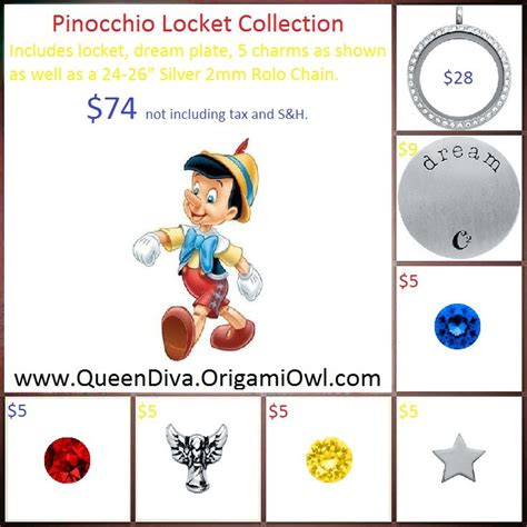 Companies Similar To Origami Owl - pinocchio locket collection origami owl
