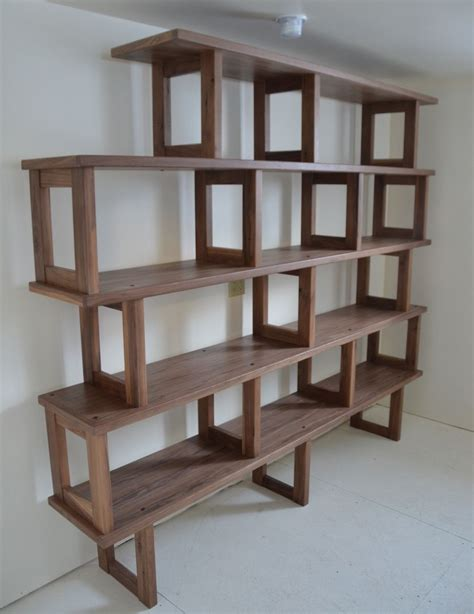 modern modular bookcase handmade walnut bookcase modern and modular by packsaddle