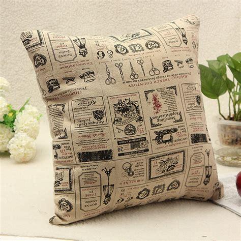 Cushion Pillow Bantal Sofa Bantal Santai 16 dekorasi rumah sprei katun vintage pinggang belakang