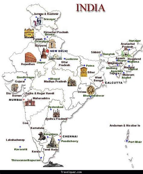 map of attractions in maps update 577687 tourist attractions map in india