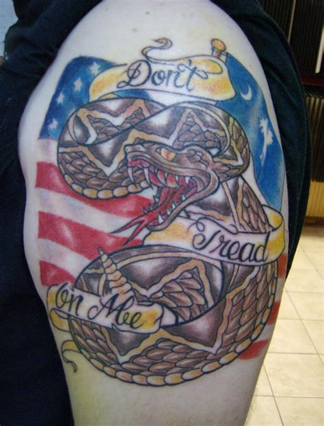 20 don t tread on me tattoo designs hative
