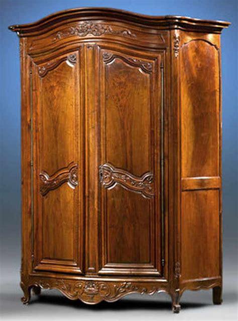 louis xv period walnut bombay armoire c 1740