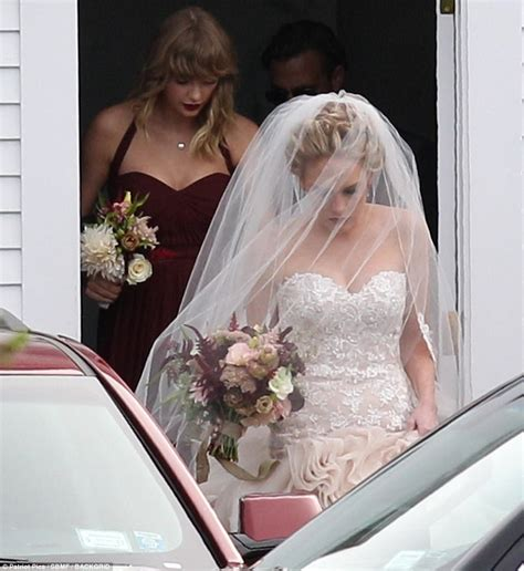 taylor swift white dress at wedding taylor swift is a bridesmaid at best friend s wedding