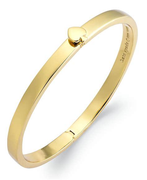 Kate Spade Gold Preloved kate spade 12k gold plated spade hinged thin bangle bracelet in metallic lyst