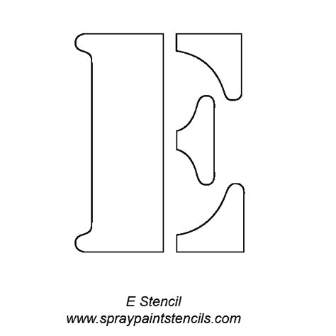 printable letter stencils for painting letter e template new calendar template site